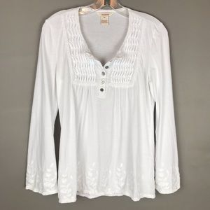 Sundance white embroidered bell sleeve top
